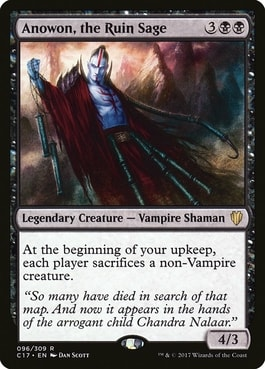 Anowon, the Ruin Sage Best Vampire Tribal Cards
