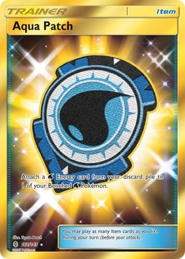 Aqua Patch Best Pokemon Trainer Item Cards