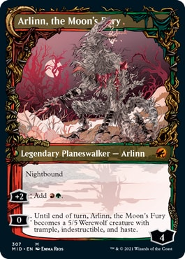 Arlinn the Moon's Fury Alt Art Innistrad Midnight Hunt Collector Booster Contents