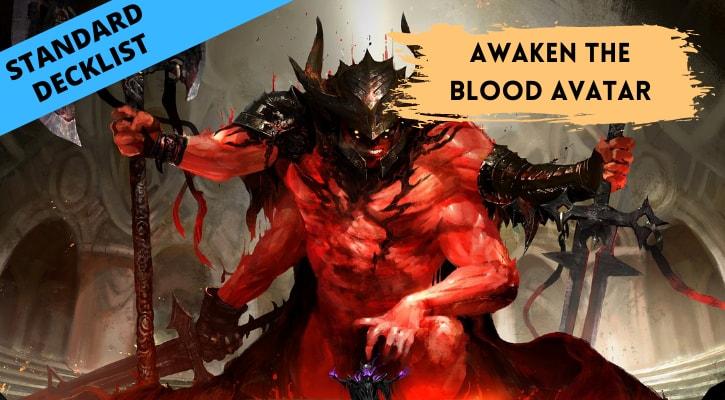 Awaken the Blood Avatar Standard Decklist Banner