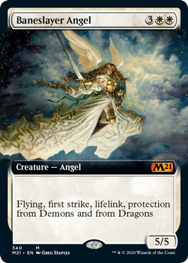 Baneslayer Angel Extended Art Collector Booster Core 2021