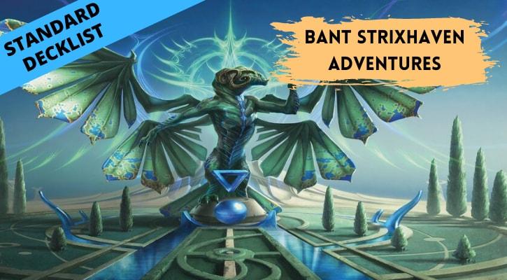 Bant Strixhaven Adventures Standard Decklist Banner