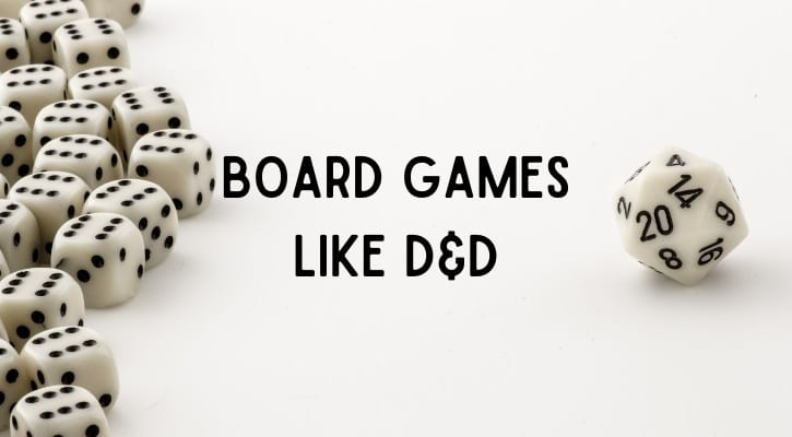 Best Board Games Like DND Dungeons and Dragons Banner