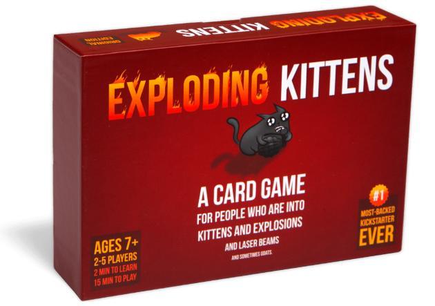 Best Card Games for Families Children Kids Exploding Kittens
