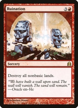 Best Cards for Mono Red Commander EDH Ruination
