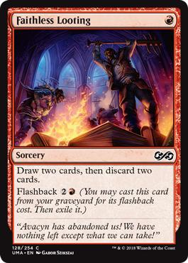 Cheap Powerful Magic the Gathering card Faithless Looting