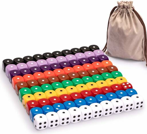 Best Dice for MTG 100 Piece Multicolored