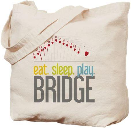 Best Gifts for Bridge Players Eat Sleep Play Bridge Canvas Bag