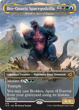 Bio-Quartz Spacegodzilla MTG Godzilla Cards