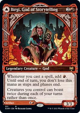 Birgi, God of Storytelling MTG Viking Cards