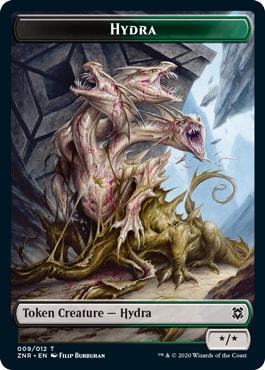 Black Green Hydra Token
