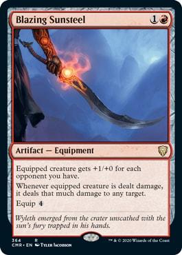 Blazing Sunsteel New Cards Commander Legends Decks