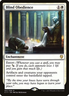 Blind Obedience Best Life Gain Lifegain Cards Commander EDH