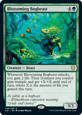 Blossoming Bogbeast Best New Cards Commander 2021