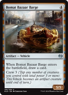 Bomat Bazaar Barge Kaladesh Remastered Draft Mechanics Vehicles