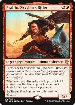 Brallin, Skyshark Rider Jeskai Commander Ideas