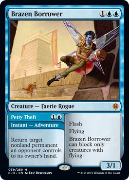 Brazen Borrower Petty Theft What to Craft on MTG Arena Wildcards