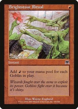 Brightstone Ritual Best MTG Goblin Tribal Cards