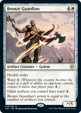 Bronze Guardian Best Commander 2021 Cards