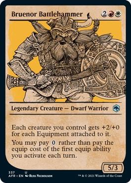 Bruenor Battlehammer List of DND Rulebook MTG Cards