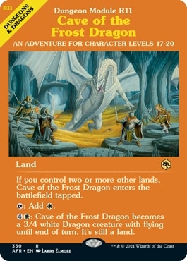 Cave of the Frost Dragon MTG DND Module Styles
