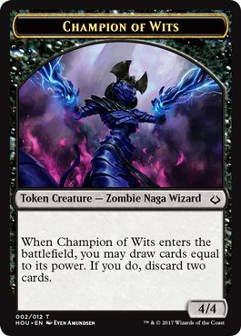 Champion of Wits Eternalize Token