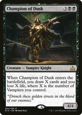 Champion of the Dusk Best Vampire Tribal Cards
