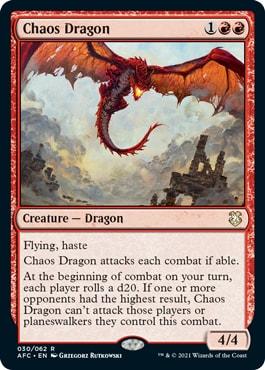 Chaos Dragon Forgotten Realms Commander Decklists