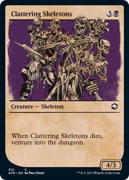 Chattering Skeletons MTG DND Rulebook Cards
