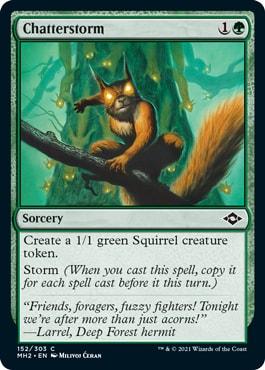 Chatterstorm Best Squirrel Cards MTG