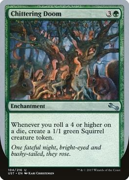 Chittering Doom Best Silver Border Squirrel Cards MTG