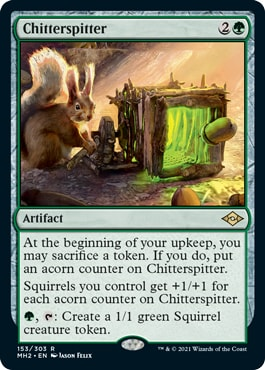 Chitterspitter Squirrel Tribal cards