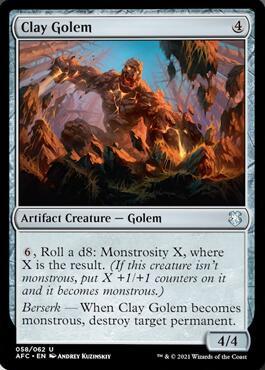 Clay Golem Forgotten Realms Commander Precon Decklist