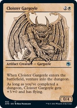 Cloister Gargoyle MTG DND Rulebook Cards