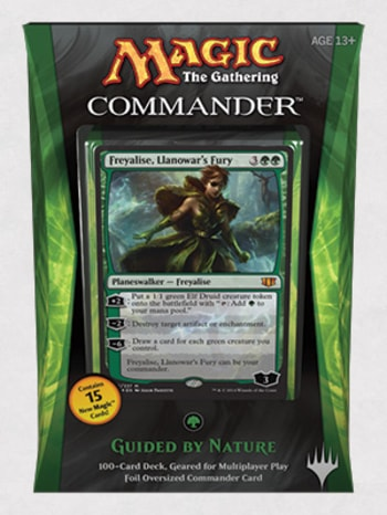 Commander Precons 2014 Guided by Nature Freyalise Llanowar Fury