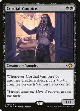Cordial Vampire Best Vampires MTG Tribal Cards