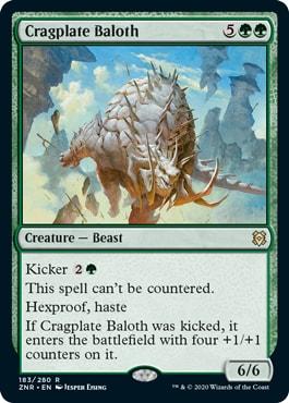 Cragplate Baloth Top 10 Zendikar Rising Commander Cards