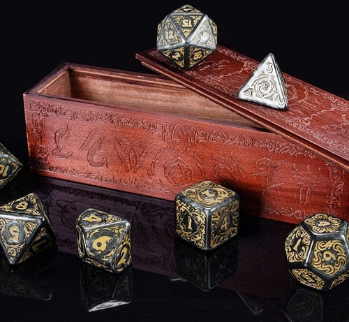 DND Gift Guide Titan Dice Nyx with Wooden Box
