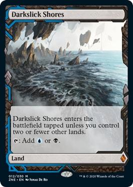 Darkslick Shores Zendikar Rising Promo Lands