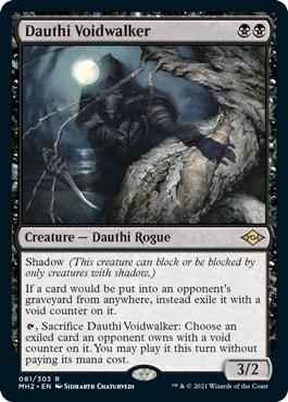 Dauthi Voidwalker Best Modern Horizons 2 Cards for Modern