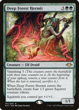 Deep Forest Hermit Best Cards for Squirrel Deck MTG