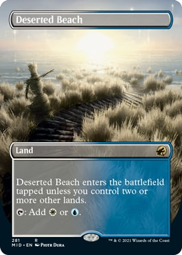 Deserted Beach Borderless Midnight Hunt Collector Booster Contents