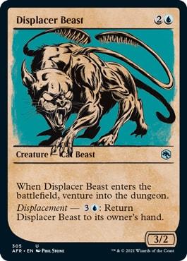 Discplacer Beast MTG DND Rulebook Cards