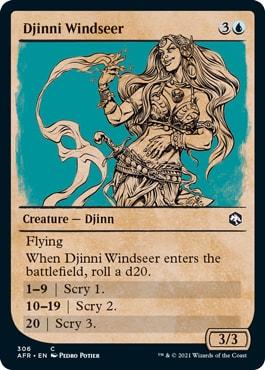 Djinni Windseer Where to Get DND Rulebook MTG Cards