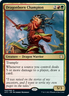 Dragonborn Champion DND Commander Decks