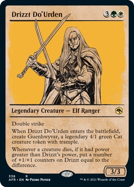 Drizzt Do'Urden Forgotten Realms Collector Booster Style