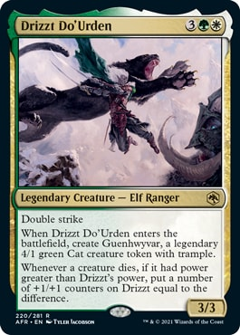 Drizzt Do'Urden MTG Card DND Set Spoilers