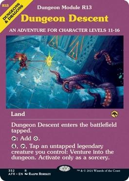 Dungeon Descent DND MTG Land