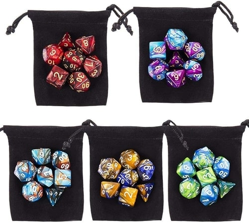 Dungeons and Dragons Gift Guide DND Dice set of 35