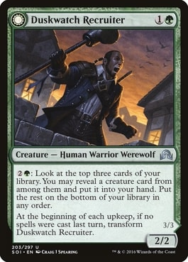 Duskwatch Recruiter Best Werewolf Cards for Commander
